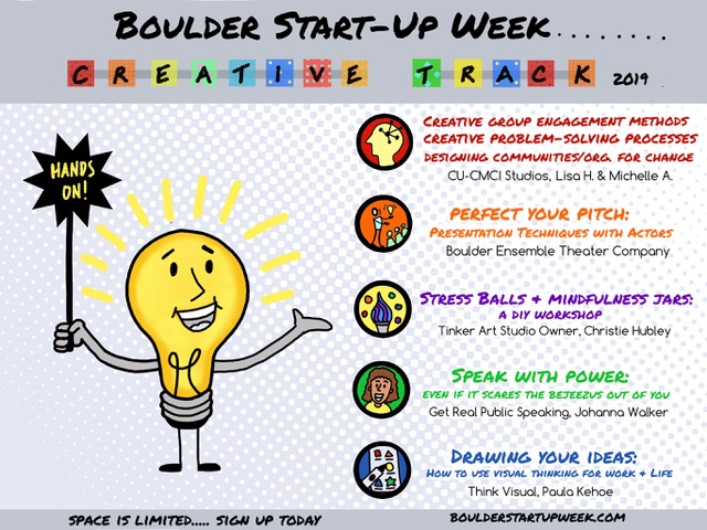 Creative Track: What to expect | Boulder Startup Week